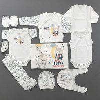ست 10 تکه لباس نوزادی طرح ماه و ستاره ببتوف «bebitof»
