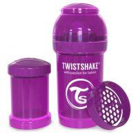 شیشه شیر طلقی 180 میلی لیتر تویست شیک بنفش«Twistshake»