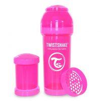 شیشه شیر طلقی 260 میلی لیتر تویست شیک صورتی«Twistshake»