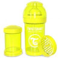 شیشه شیر طلقی 180 میلی لیتر تویست شیک زرد«Twistshake»