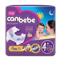 پوشک بچه جان ب ب (Canbebe) سایز +4 بسته 34 عددی