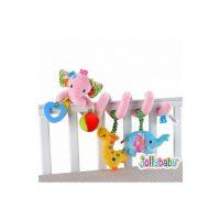 آویز تخت نوزاد و کودک فیل صورتی جولی بی بی «Jollybaby»