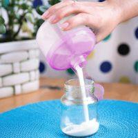 ظرف ذخیره پودر شیر خشک بی بی جم «babyjem» صورتی