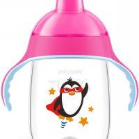 لیوان دهنی دار پنگوئنی ۳۴۰ میلیلیتر فیلیپس اونت صورتی
