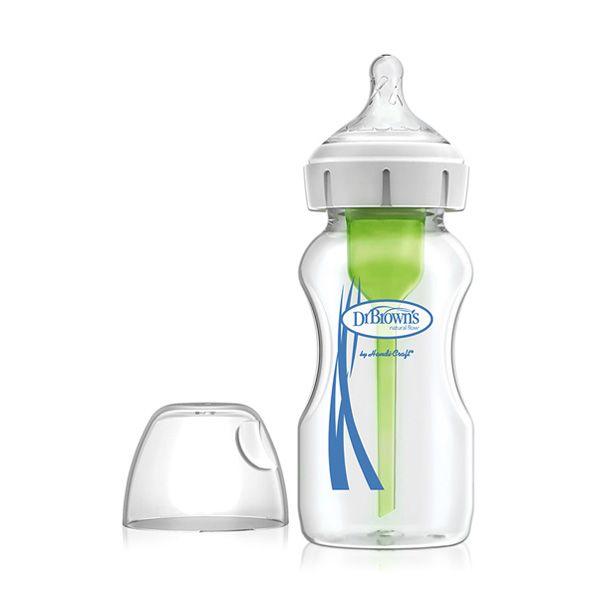 شیشه شیر پیرکس پهن 270 میل آپشن پلاس Drbrowns