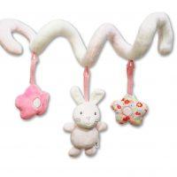 آویز تخت نوزاد و کودک لمون طرح خرگوش صورتی «lemon»