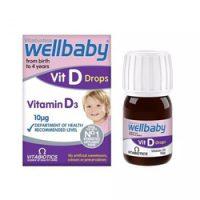 قطره ویتامین D3 ول بیبی Wellbaby